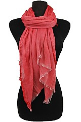 Soft and Silky Scarves With Fringe Ends