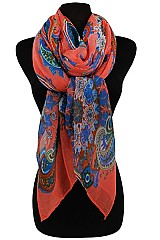 Paisley Pattern Soft Scarves & Wraps