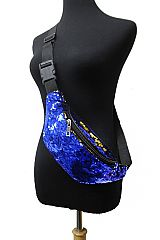 Two Way Sequin Color Glitter Waist Festival Fashion Fanny Pack