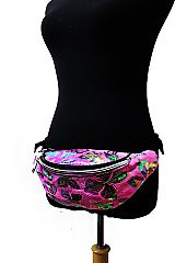 Reflective Butterfly Two Way Zipper Fanny Pack Rave Festival