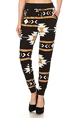 Tribal Geometric Soft Stretch Jogger Pants