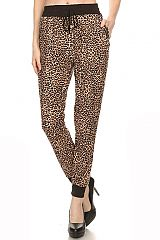 Animal Print And Camouflage Jogger Stretch Pants