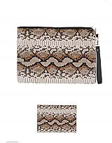 Large Snakeskin Clutch