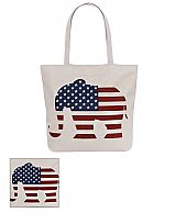 Republican Elephant Symbol Tote Canvas Bag