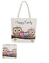 Trio Family Owl Tote Bag