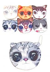 Kitten Printed and Eared Coin Bags