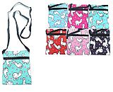 Little Animated Llama Collection Flat Pouch Cross Body Bag