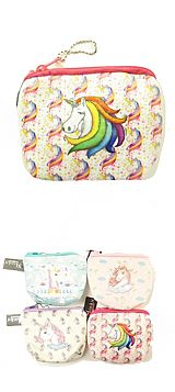 Soft Plush Unicorn Coin Bag