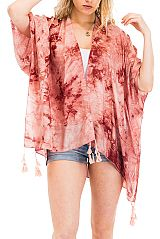 Low Water Immersion Tie Dye Kimono Styled Cover Up