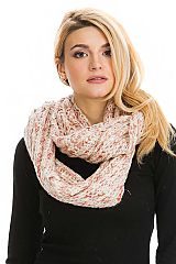 Multicolored Ribbed Knit Infinity Scarves