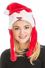 Santa Claus Designed Plush Hat with Ear Covers