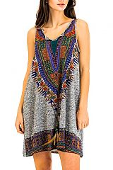 Ethnic Boho Vibes Printed and Colored Top Dress