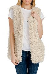 Extra Soft & Thick Faux Fur Mid-Length Vest