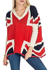 British Design with Long Sleeves  Poncho