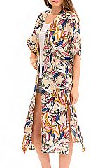 Exotic Florals Minimal Cardigan Cover Up Long body Kimono