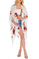 Exotic Florals Minimal Cardigan Cover Up Kimono
