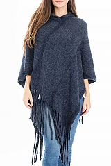 Hooded Boho Braided Detailed Fashion Poncho