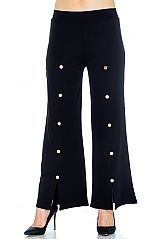 Loose Fitting Stylish Front Button Pants