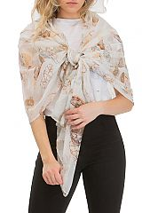 Feather Boho Chic Printed Gypsy Scarves