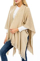 Gold threaded Shimmery Open Styled Poncho