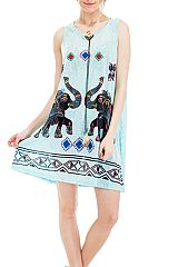 Boho and Ethnic Elephant and Geometric Printed Romper