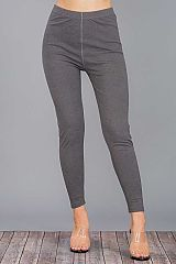 Solid Colored and Fleece Lined Super Soft Brushed fabric Thermal Leggings
