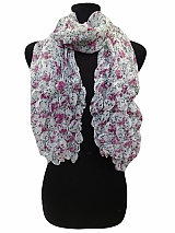 Bubbly Chiffon Scarves Floral Design