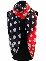Tonal Polka Dot Scarves & Wraps
