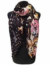 Leopard And Floral Multiple Print Scarves