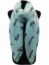 Cart Print Scarves & Wraps