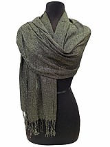 Shiny Metallic Accents Softness Pashmena Feel Scarf