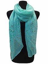 Sparkly Studs All Over the Edge on Soft Scarves