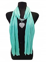 Heart Charm Summer Color Scarf