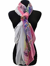 Sea Print Square Soft Scarves