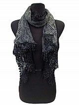 Lace & Knitted Two Tone scarf