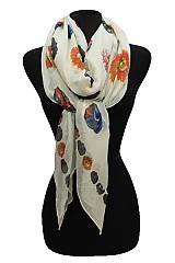 Sugar Skull Printed Softness Scarves
