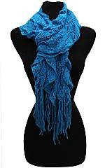 Knitted Ruffle Scarves.