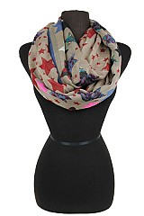 Colorful Star Design Infinity Scarves.