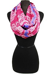 Plaid Paisley Pattern Infinity Scarves
