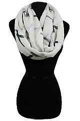 Color Full Cross Pattern Infinity Scarves