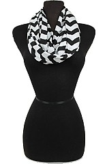 Softness Jersey Infinity scarf with Chevron Pattern