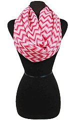 Tricolor Chevron Pattern Infinity Scarves.