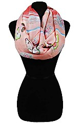 Colorful Butterfly Soft Infinity Scarves