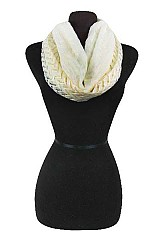 Soft Lace Chevron Infinity Scarves Double Fabric
