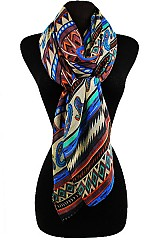 Aztec and Missoni Pattern Soft Regular Scarf