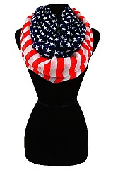 Original Color American flag infinity scarf