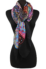 Multi Color Circles Pattern Scarf