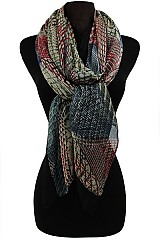 Diamond Kaleidoscope Pattern Soft Scarves