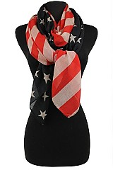 Patriotic Fashion Flag Pattern Scarves