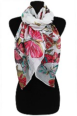 Colorful Butterfly Pattern Softness Scarves